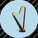 harp, audio, instrument, music, sound