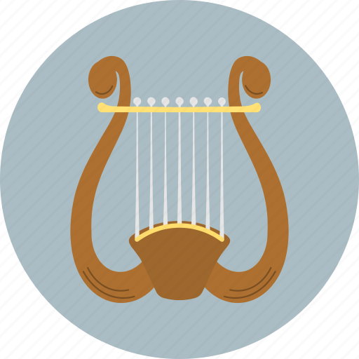 audio, instrument, lira, music, sound icon