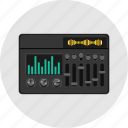 audio, electric, equalizer, media, music, player, sound