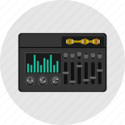 audio, electric, equalizer, media, music, player, sound icon