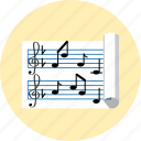 solfege, key, music, note, paper, sol, sound icon