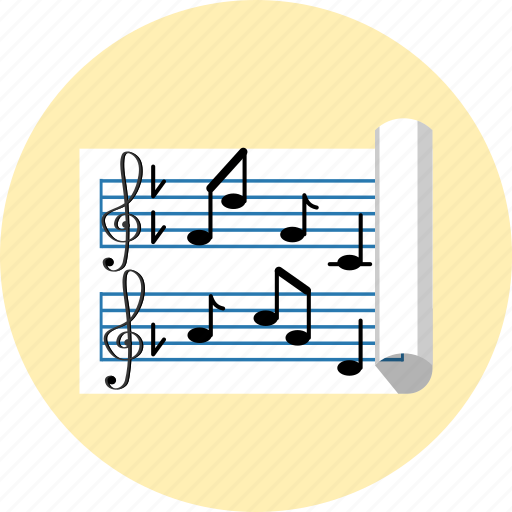 key, music, note, paper, sol, solfege, sound icon