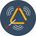 instrument, music, percussion, sound, triangle icon