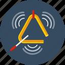 triangle, instrument, music, percussion, sound