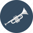 audio, instrument, music, play, song, sound, trumpet icon