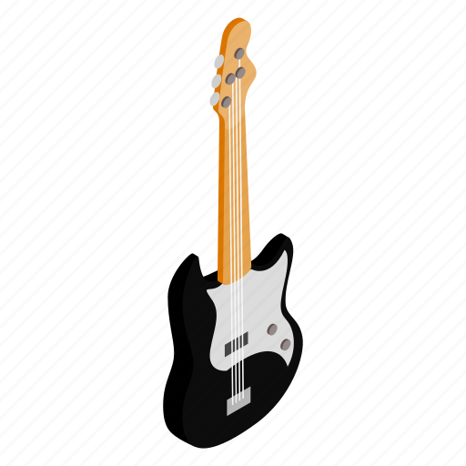 band, electric, guitar, instrument, isometric, music, string icon