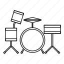 culture, instrument, line, music, musical, outline, percussion icon