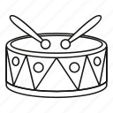 culture, drum, instrument, line, music, musical, outline icon