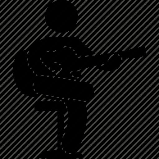 guitar, guitarist, man, musician, person, playing, strumming icon