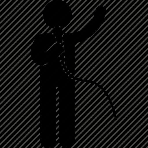 karaoke, man, musician, person, singer, singing, standing icon