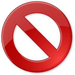 approve, block, cancel, delete, reject icon