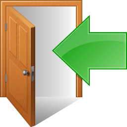 exit, out, sign out icon