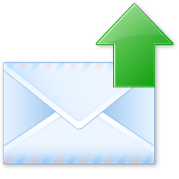 email, letter, send icon