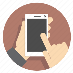 businessicon, device, finger, hand, mobile, smartphone, touch icon