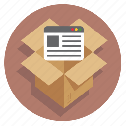 api, box, browser, developer, ecommerce, sale, shipping icon