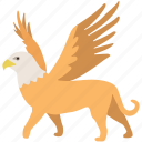 fantasy, griffin, griffon, gryphon, legendary, monster, mythical