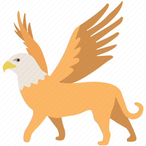 fantasy, griffin, griffon, gryphon, legendary, monster, mythical icon