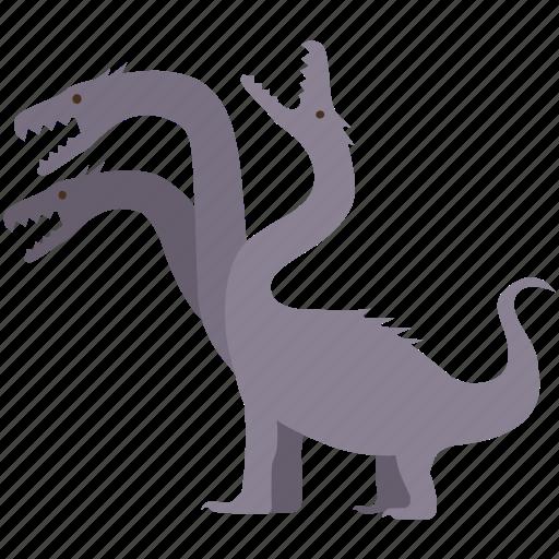 beast, creature, fantasy, hydra, lernaean, monster, serpent icon