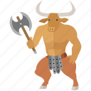 crete, fantasy, greek, labyrinth, maze, minotaur, mythology icon