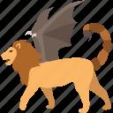 monster, beast, fantasy, persian, manticore, mythology, legend icon