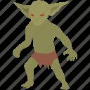 boggart, creature, fantasy, goblin, gremlin, imp, troglodyte icon