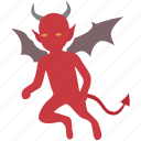 bad, conscience, demon, devil, evil, gremlin, imp icon