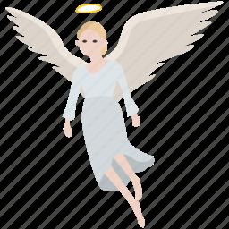 angel, christian, guardian, heaven, messenger, purity, spirit icon