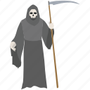 collector, death, grim reaper, mortality, scythe, soul icon