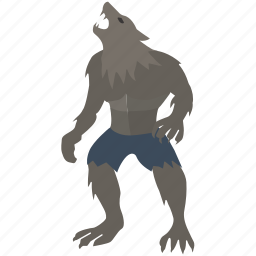 beast, lycan, lycanthrope, man, werewolf, wolf, wolfman icon