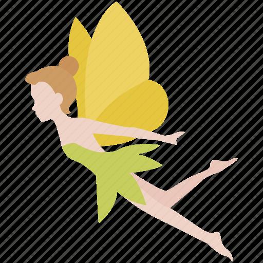 faerie, fairy, pixie, spirit, spriggan, sylph, tinkerbell icon