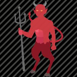 demon, devil, diablo, hell, lucifer, satan, shaitan icon