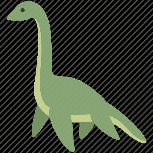 dinosaur, folklore, loch, monster, ness, nessie, plesiosaur icon