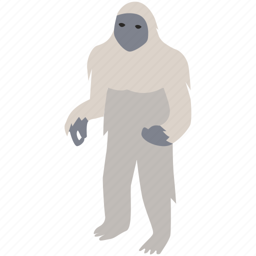 abominable snowman, big foot, himalayas, legend, myth, yeti icon