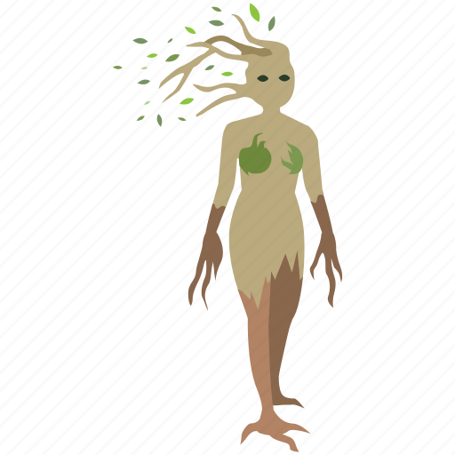 dryad, ent, mother, nature, nymph, spirit, tree icon
