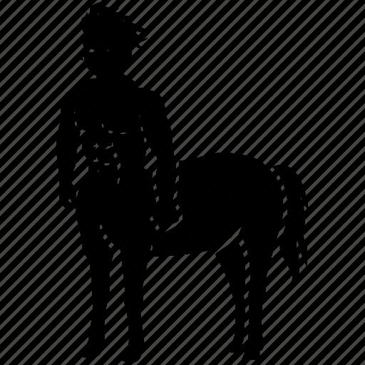 Mythological, centaur, horseman, greek, mythology, hippocentaur, creature icon