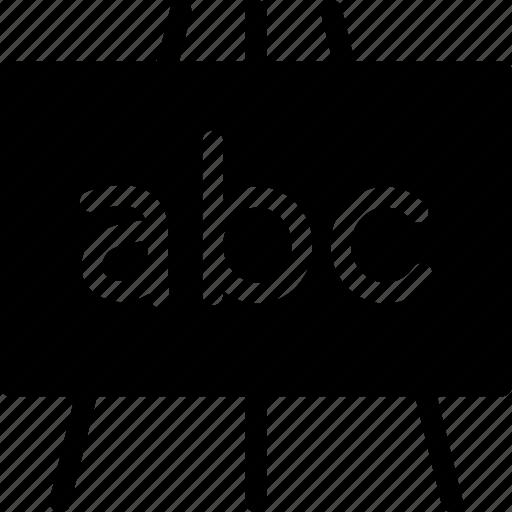 chalkboard, edu, education icon