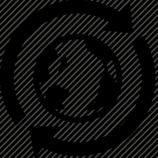 around the world, web service icon