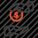 bribe, bribery, bureaucracy, corrupt icon