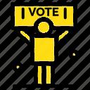 campaign, political, politics, vote icon