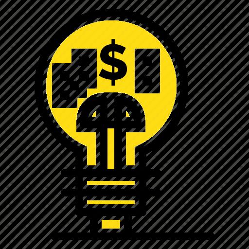 finance, fintech, idea, innovation icon