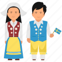 cultural dress, national dress, swedish clothing, swedish dress, swedish outfit icon