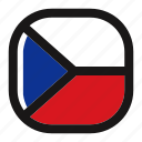 country, czech, czech republic, flag, nation, national, square icon