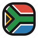 africa, country, flag, nation, national, south, south africa icon