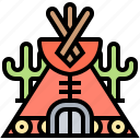 camp, house, teepee, tent, tribal icon