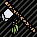adorned, axe, tomahawk, warrior, weapon
