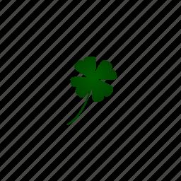 clover, fourleaf, leaf, stpatricksday icon