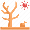 climate change, disaster, dry, global warming, natural disaster, nature, tree icon