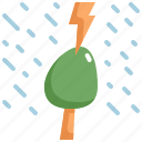 climate change, disaster, natural disaster, nature, rain, thunder, tree icon