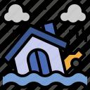 flood, water, damage, inundation, flooded, house, insurance