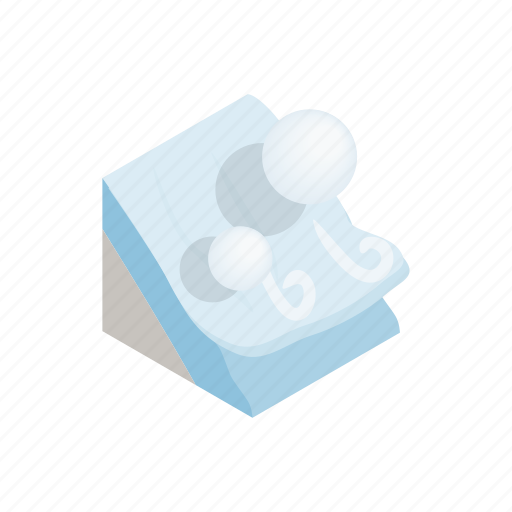 avalanche, isometric, mountain, nature, outdoor, snow, winter icon